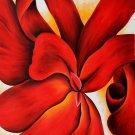 Georgia Okeeffe Red Cannas Fine Art Print 32x24