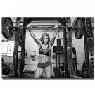 Bodybuilding Fitness Model Woman Motivational Poster Gym Decor 32x24