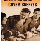 Wwii Cover Coughs War Propoganda Poster Art Print 32x24