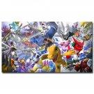 Digimon Adventure Tri Anime Fabric Poster Home Decor 32x24