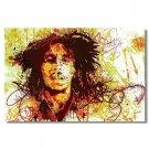 Bob Marley Reggae Music Star Poster Art Print 32x24