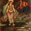 Warwick Goble Shantanu Meets Goddess Ganga Fine Art Print 32x24