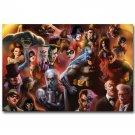 Batman DC Superheroes Comic Fabric Poster Catwoman Joker 32x24