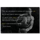 Rocky Balboa Motivational Inspirational Quote Poster 32x24