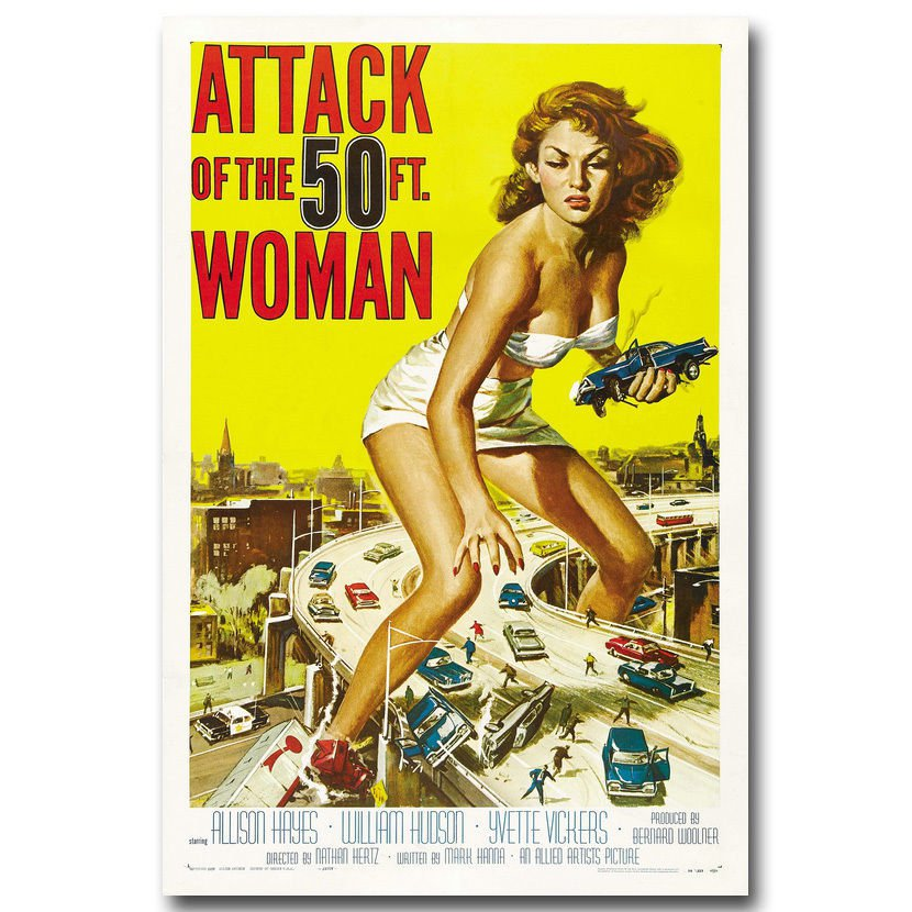 Attack Of The 50 Ft Woman Classic Film Movie Poster 32x24