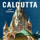 Vintage French Calcutta Travel Poster Print 32x24