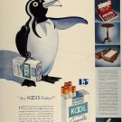 Vintage Kool Penguin Cigarette Smoking Ad Art Print 32x24