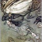 Arthur Rackham Alice In Wonderland Ii Fine Art Print 32x24