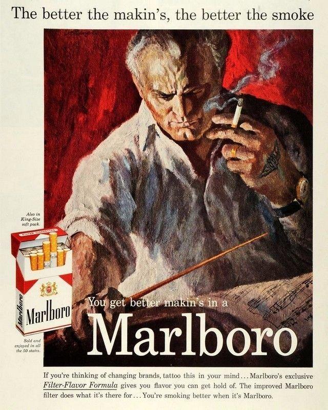 Vintage Malboro Cigarette Smoking Ad Art Print 32x24