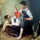 Norman Rockwell The Little House Fine Art Print 32x24