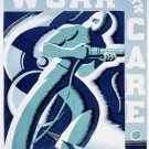 Work With Care 3 Wpa Poster Art Print 32x24