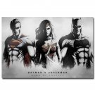 Batman VS Superman Movie Art Fabric Poster Print Wonder Woman 32x24
