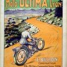 Moto Ultima Lyon French Poster Print 32x24