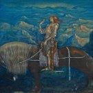 John Bauer A Knight Rode On Fine Art Print 32x24
