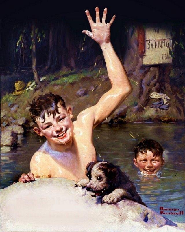 Teen boys skinny dipping 15