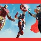 Iron Man Man Of Steel Thor Captain America Print Poster 32x24