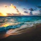 Beach Sea Sky Sunset Positive Art Print POSTER 32x24