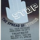 Stop The Spread Of Syphilis Wpa Poster Art Print 32x24