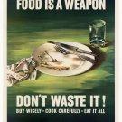 Wwii Dont Waste It War Propoganda Poster Art Print 32x24