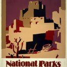 Vintage Pueblos Of The Southwest Wpa Poster Art Print 32x24
