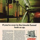 Vintage Lennox Nyc Lincoln Tunnel Ad Art Print 32x24