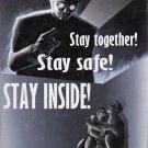 Wwii Stay Inside War Propoganda Poster Art Print 32x24
