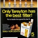 Vintage Tareyton Lights Cigarette Smoking Ad Art Print 32x24