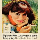 Vintage Kent Cigarette Smoking Ad Art Print 32x24