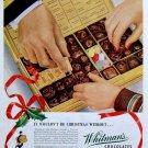 Vintage Whitmans Chocolates Ad Art Print 32x24