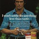 Vintage Winston Wont Settle Cigarette Ad Art Print 32x24