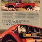 Vintage Toyota 4 Wheel Drive Truck Ad Art Print 32x24