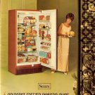 Vintage Sears Freezer Ad Art Print 32x24