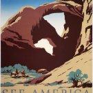 Vintage See America Travel Bureau Poster Art Print 32x24