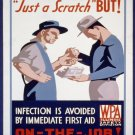 Scratch Infection On The Job Wpa Poster Art Print 32x24