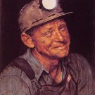 Norman Rockwell Mine Americas Coal Fine Art Print 32x24