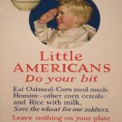 Wwii Little Americans War Propoganda Poster Art Print 32x24