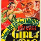 Girl Of The Rio 1932 Vintage Movie Poster Reprint