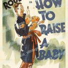 How To Raise A Baby 1938 Vintage Movie Poster Reprint