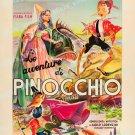 The Adventures Of Pinocchio 1947 Vintage Movie Poster Reprint