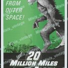 20 Million Miles To Earth 1971 Vintage Movie Poster Reprint 5