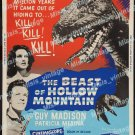 The Beast Of Hollow Mountain 1956 Vintage Movie Poster Reprint