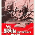 The Brain That Wouldn T Die 1962 Vintage Movie Poster Reprint
