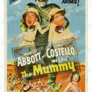Abbott And Costello Meet The Mummy 1955 Vintage Movie Poster Reprint 2