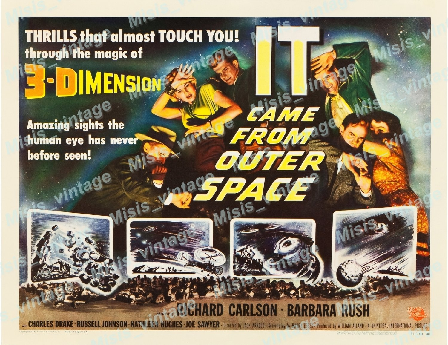 It Came From Outer Space 1953 Vintage Movie Poster Reprint 20