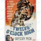 Twelve O Clock High 1949 Vintage Movie Poster Reprint 3