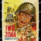 The Sands Of Iwo Jima 1950 Vintage Movie Poster Reprint