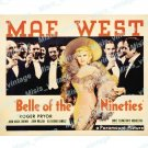 Belle Of The Nineties 1934 Vintage Movie Poster Reprint