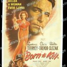 Born To Kill 1946 Vintage Movie Poster Reprint 4