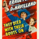 They Died With Their Boots On 1941 Vintage Movie Poster Reprint 10