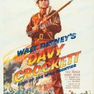 Davy Crockett King Of The Wild Frontier 1955 Vintage Movie Poster Reprint